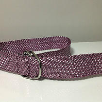 Arden B Braided Metallic Pink Belt Size M Photo