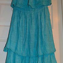 Arden B Gauze Ceramic Blue Summer/beach Tube Dress Size M Photo