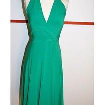 Arden B -  Holiday Ready Green Halter Dress With Tie Wist Medium Photo