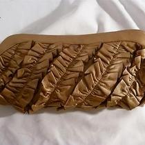 Arden B Leather Bronze Clutch Bag With Spring Hinge Open Fabulous  Photo