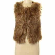 Arden B. Women Brown Faux Fur Vest S Photo