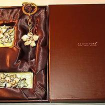 Argento Sc Augusta  Box Set Compact Lipstick Case & Keychain Rose Swarovski New Photo