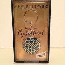 Argento Sc Key Ring Chain Fob - Xxxs & Ooos - Swarovski Elements Photo