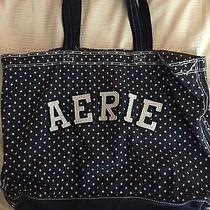 Arie by American Eagle Navy Canvas Tote Bag Photo