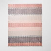 Aritzia Wilfred Deco Pop Blanket Scarf Wrap Blush Pink Gray Madewell Jcrew 80 Photo