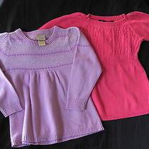 Arizona Jean Company Purple Metallic Silver Sweater Baby Phat Pink Cable 4t Photo