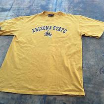 Arizona State Red Devils Jansport Grunge Distressed Yellow T Shirt- Men's Large Photo