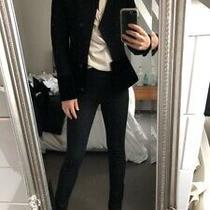 Armani Asymetric Jacket With Velvet Trim Size 38 Rrp 345 Photo