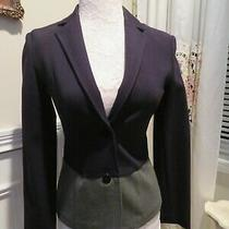 Armani Black and Gray Blazer Jacket Size 38 or Us Xs Photo