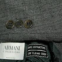 Armani Collezioni 44l Made in Italy Gray Wool Blend 1/2 Lined 3b Blazer Jacket Photo