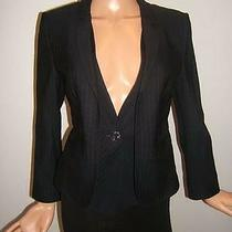 Armani Collezioni 6 Rare Attached Vest Blue Wool Designer Womens Jacket Blazer Photo