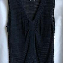 Armani Collezioni Black Italian Knotted Front Sleeveless Knit Wmn Sz 38 Rrp 595 Photo
