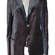 Armani Collezioni Black Velvet-Like Jacket Photo