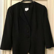 Armani Collezioni Black Womens Blazer Jacket  Eur 50 Uk Size 14-16 Work Smart Photo