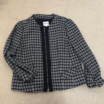 Armani Collezioni Black Wool Long Sleeve Blazer Jacket Size 10 Full Zip Photo