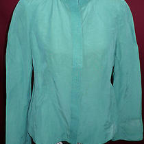 Armani Collezioni Blazer Jacket Silk Green Christmas Gift Sz 8  Photo