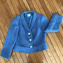 Armani Collezioni Blue Virgin Wool Blazer Jacket Women's Medium Made in Italy Photo