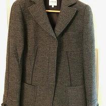 Armani Collezioni Boucle Knit Structured Gray Blazer Jacket Womens Size 8 Photo
