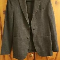 Armani Collezioni Gray Plaid Unstructured Wool Blend Blazer Size Mens 40r Photo