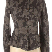 Armani Collezioni Jacket 8 Gray Taupe Floral Embroidered Wool Blend Blazer Italy Photo