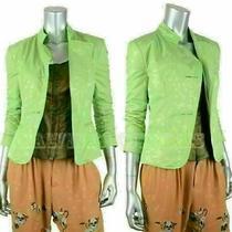 Armani Collezioni Jacket Blazer Techno Fabric Light Green Sz 2 Photo