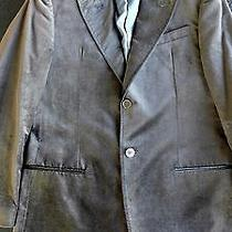 Armani Collezioni Men's Velvet Brownish Black Dinner Jacket Size 38r From Saks Photo