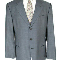 Armani Collezioni Mens Blue Houndstooth 3 Btn Sport Coat 44l Italy Made Photo