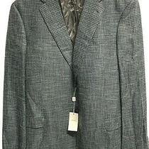 Armani Collezioni Mens Blue Weave Sport Coat/ Blazer It Size 58 New Photo