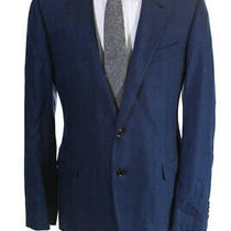 Armani Collezioni Mens Long Sleeve Two Button Blazer Blue Size 42 Photo