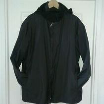 Armani Collezioni Mens Water Repellent Windbreaker Jacket Face Mask Hoodie Germs Photo