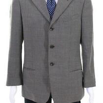 Armani Collezioni Mens Wool Notched Collar Three Button Blazer Gray Size 40 Photo