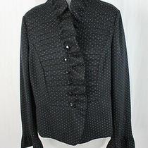 Armani Collezioni Nwot Black White Polka Dot Blazer Jacket Size 12 Photo