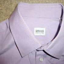 Armani  Collezioni Purple Dress Shirt Size 16 34  Italy.  Nice Photo