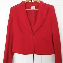Armani Collezioni Red Crepe Jersey Blazer / Jacket  Size 6 Photo