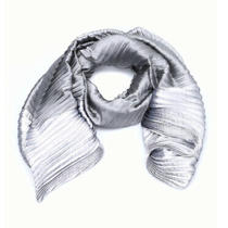 Armani Collezioni Silver Pleated Scarf - Nwt Photo