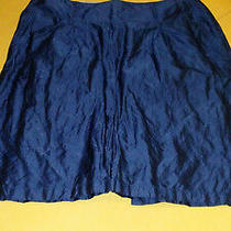 Armani Collezioni Size 50 14 Blue Skirt Photo