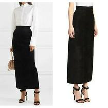 Armani Collezioni   Sz 16  Large Black Velvet Pencil Maxi Skirt Lined Italy New Photo