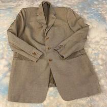 Armani Collezioni Sz 43 R Gray  Wool Two Button Men's Blazer Italy Photo