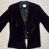 Armani Collezioni Women Black Velvet Jacket - Silk Lining - Size Us 12 Photo