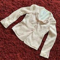 Armani Collezioni Women Pink Linen Blend Blazer Sz 6 Photo