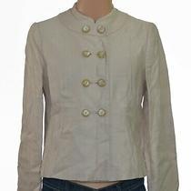 Armani Collezioni Women's 31/32 6 Button Tan Beige Casual Work Blazer Jacket Photo