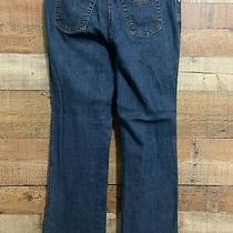 Armani Collezioni Womens Antinea Size 10 Straight Leg Mid Rise Dark Blue Jeans Photo
