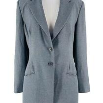 Armani Collezioni Women's Gray Two Button Long Sleeve Blazer Jacket Size 44/us12 Photo