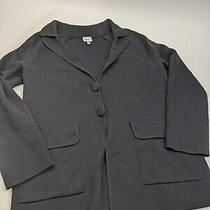 Armani Collezioni Women Sz 6 Black Knit Blazer Jacket  Photo