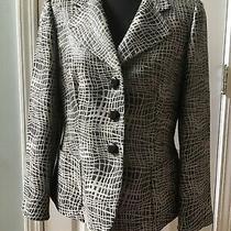 Armani Collezioni Womens Brown/tan Shimmer 3 Button Blazer Jacket Size 8 Photo