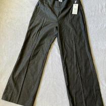Armani Collezioni Womens Size 44 (8) Dress Pants Trouser Wide Leg Black Nwt Photo