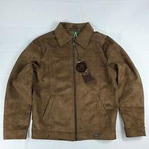 Armani Emporio Collezione Suede Jacket Mens Size Medium M Brown New Nwt Photo