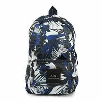 Armani Exchange 9520978p208 Men's Backpack White-Blue Zip Close Photo