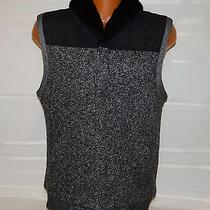 Armani Exchange Ax Black Faux Sherpa Lined Vest Women's Size Medium-Free Ship Photo