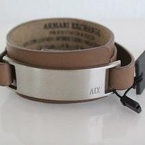 Armani Exchange Ax Metal Plate Cuff Bracelet in Brown Bnwt & Gift Box Authentic Photo
